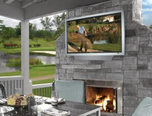 TV for All Seasons: These days, residents expect to see flat-panel TVs everywhere, including outdoors. SunBriteTV, which specializes in sealed, weatherproof flat-panels, offers the Signature Line of 55-, 46-, and 32-inch, high-definition models. Each has an antiglare LCD panel for viewing in daylight and a built-in audio system powerful enough to overcome the din of the outdoors.