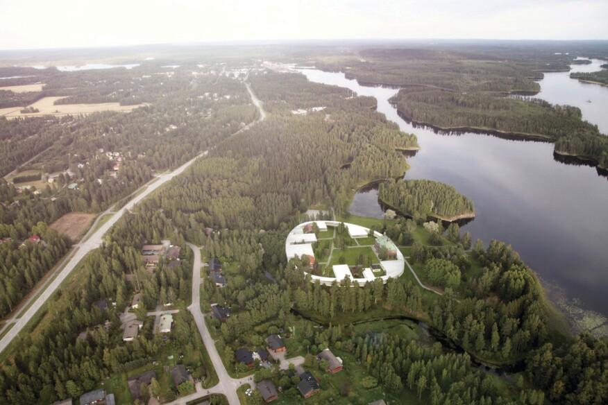 The firm submitted Gösta's Ring, a series of single-story galleries wrapped by a glass-walled circulation corridor, to a 2011 competition to expand the Serlachius Museum in Mäntäa, Finland.