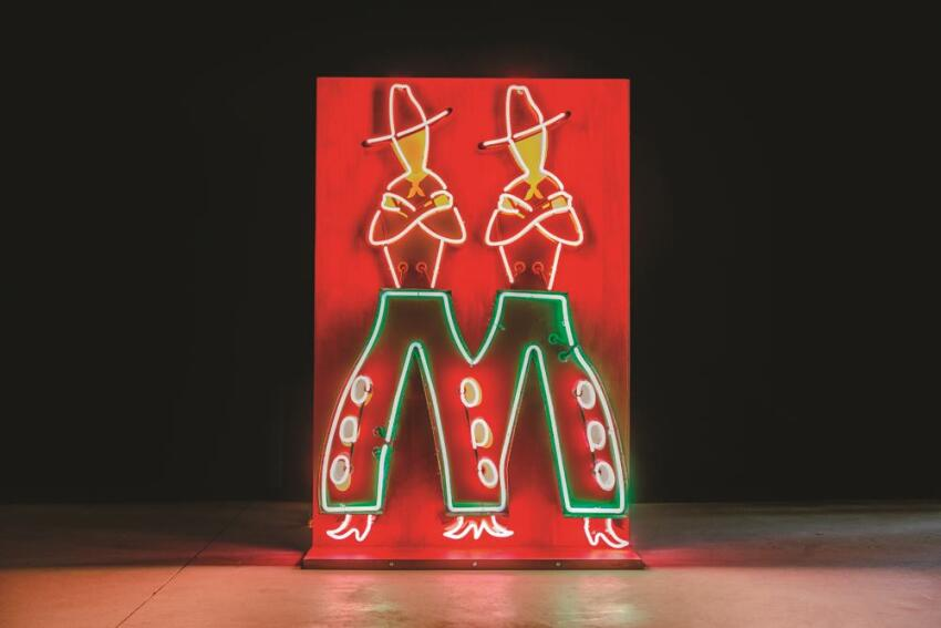 M-shaped cowboy chaps from the long-demolished Mapes Hotel Casino