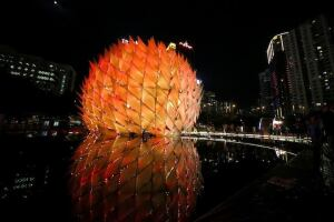 The Golden Moon pavilion, by the Laboratory of Explorative Architecture & Design