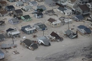 Homes destroyed in the wake of Superstorm Sandy in 2012 (Photo courtesy of the U.S. Wildlife Service and Greg Thompson/USFWS via Flickr).