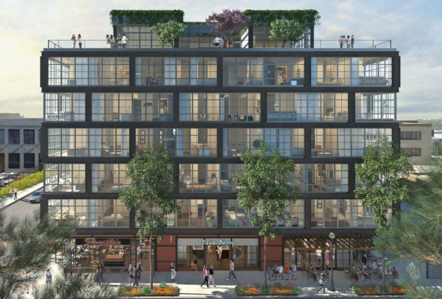 The Atlantic Pluming sister site 2030 8th Street will hold 62 luxury condos. Image courtesy The JBG Companies