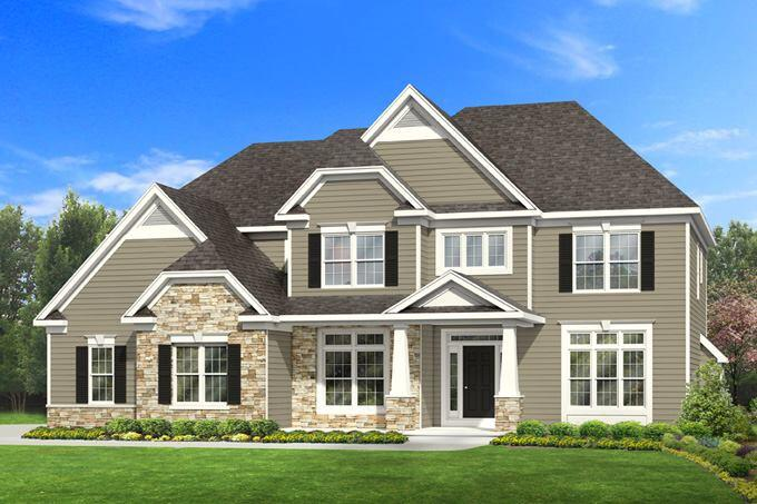 Four new plans with elegant curb appeal builder magazine for Four gables house plan with garage