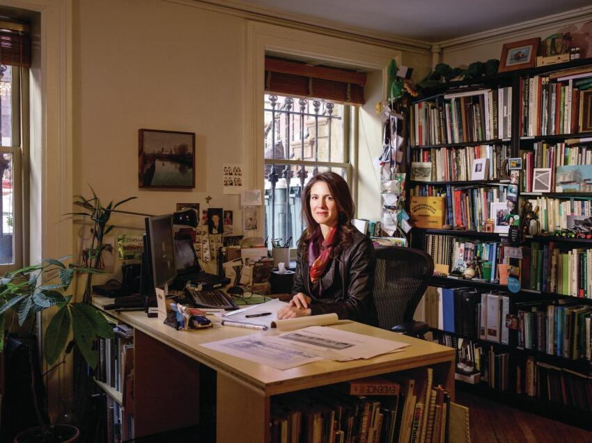 Susannah Drake, founder of Dlandtstudio, in her Brooklyn, N.Y.-based office.