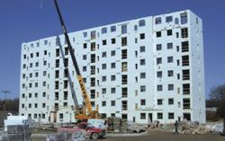 Building high-rise structures with ICFs has many advantages, but requires some expertise.
