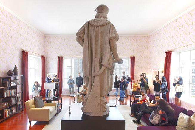 Tatzu Nishi Moves Columbus Statue Indoors
