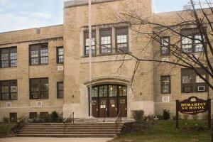 Demarest Elementary School reduced its energy use from 165 kBtu per square foot to 79 kBtu per square foot in one year.