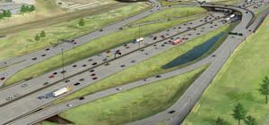 This $1 billion best value design/build lane widening project on I-15 in Salt Lake City includes this innovative interchange.