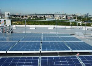 Roof-mounted photovoltaic panels on the Davis & Warshow's campus buildings produce more than 200,000 kilowatt-hours annually—which is more energy than what the new LED lighting system consumes.