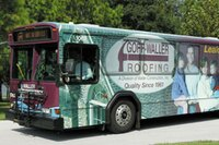 Bus Advertising for Goff-Waller Roofing and Waller Emergency Services