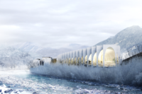 BIG's Proposal for S. Pellegrino Flagship Factory
