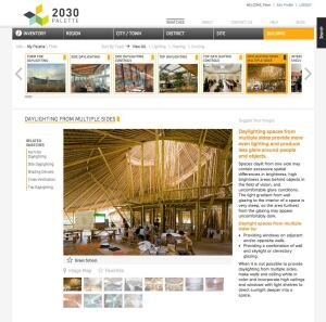 The 2030 Palette is a web-based sustainable design tool for architects, designers, and planners.