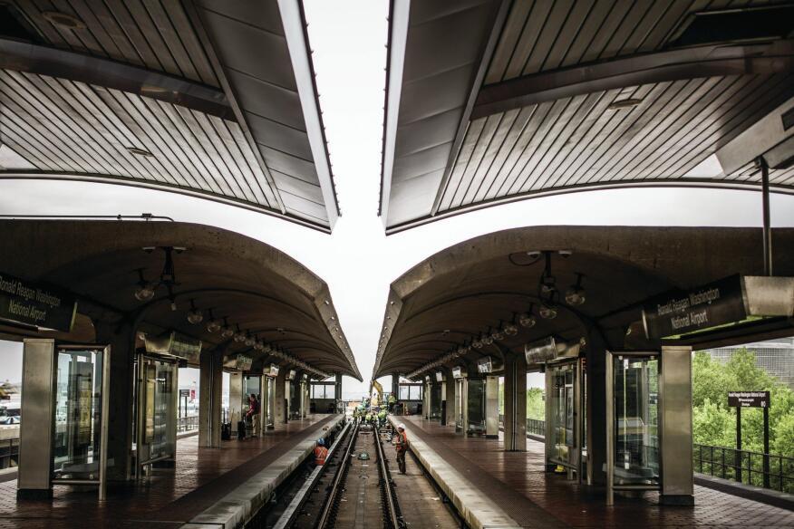 The Ronald Reagan Washington National Airport station