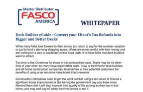 Deck Builder eGuide - Convert your Client's Tax Refunds into Bigger and Better Decks