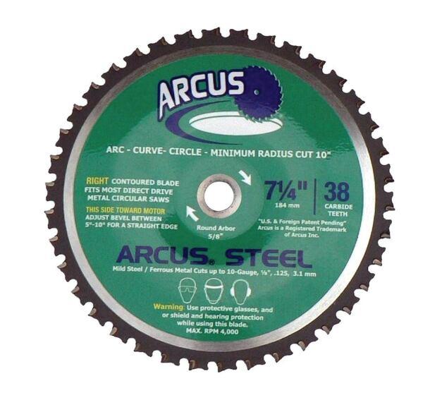 Circular Blade Cuts Steel