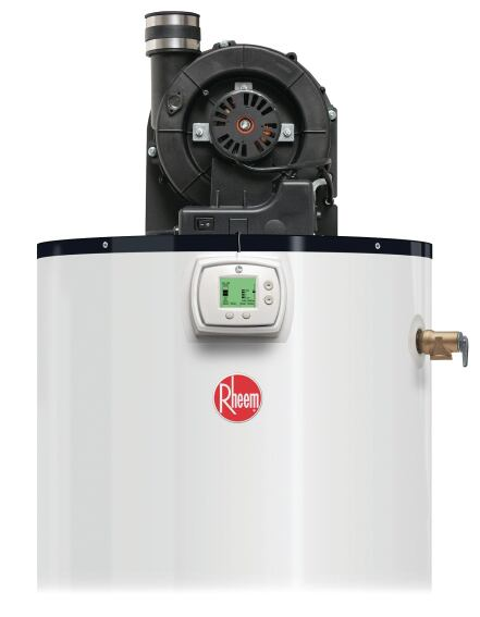 Rheem Power-Vent Water Heater LCD Display