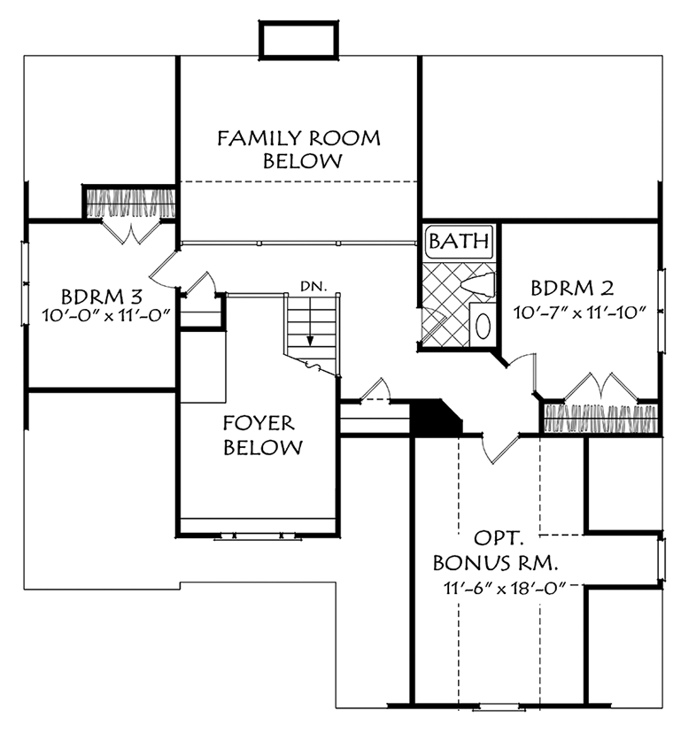 """The Heydon Hall plan, by Frank Betz and Associates, has
