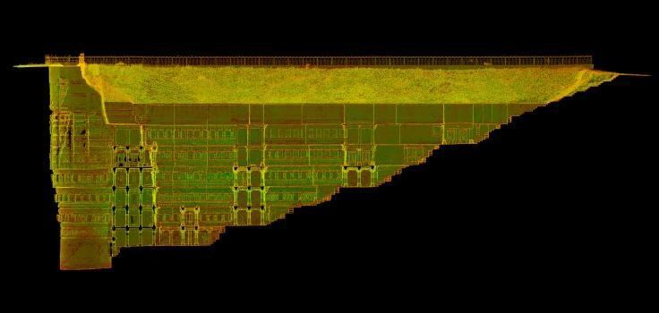 A partial elevation scan of the Rani-ki-Vav stepwell in India's Gujarat province, which was named a UNESCO World Heritage Site earlier this year.