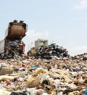 After six passes with a landfill compactor — regardless of size — density levels plateau. Photo: Terex Corp.