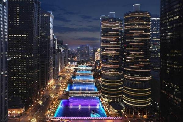 A rendering provided by the City of Chicago of the proposed light project.