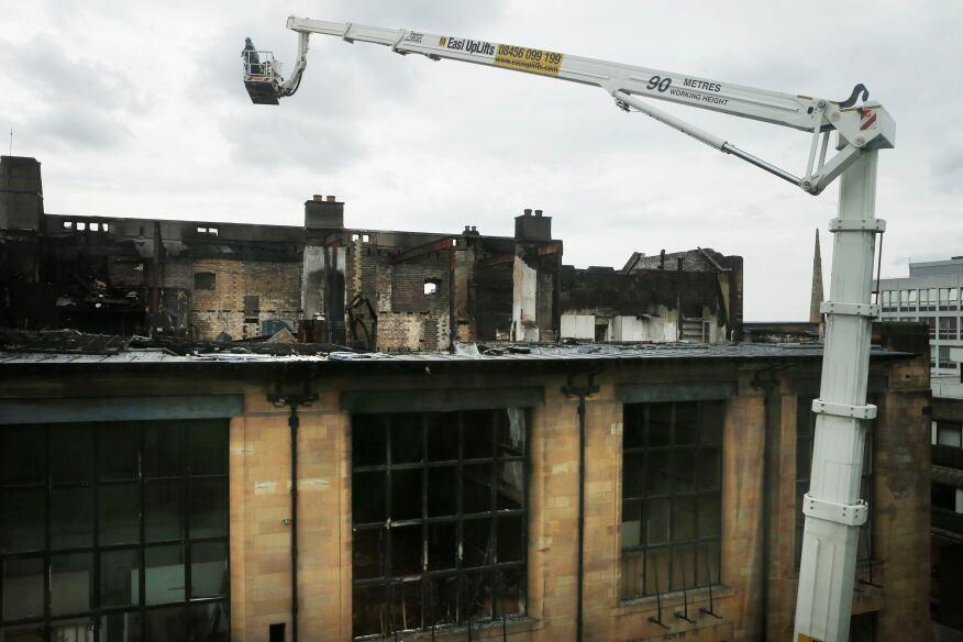 The Glasgow School of Art's Mackintosh building in June.