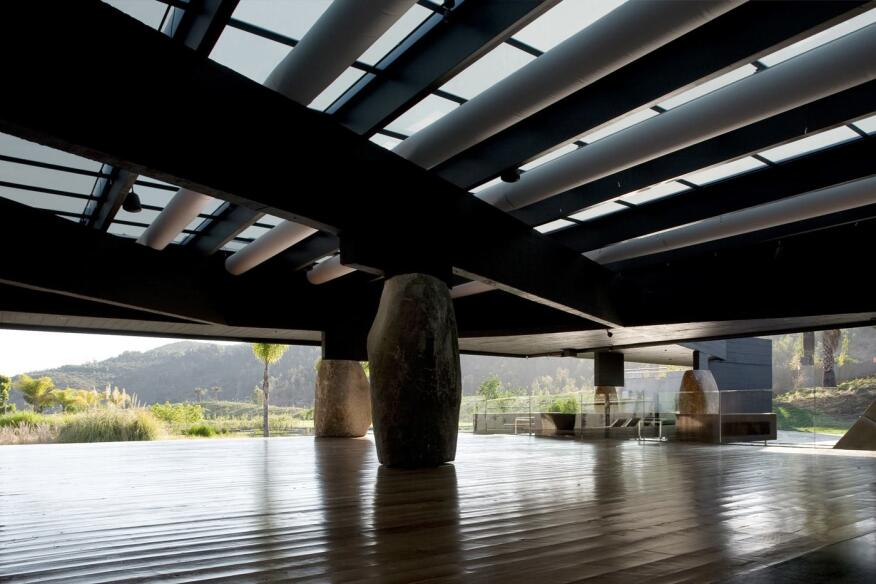 Mestizo Restaurant in Santiago, Chile, by Smiljan Radic, who also designed this year's Serpentine Gallery Pavilion.