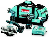 Because of its Li-ion batteries and Optimum Charging System, Makita's LXT 18-volt tool line allows for 18-volt power at 12-volt weight and 280% more lifetime work, the maker says.