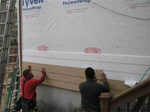 Installing siding on a building frame where exterior insulation has been applied takes special care to make sure the cladding gets properly attached to the frame.