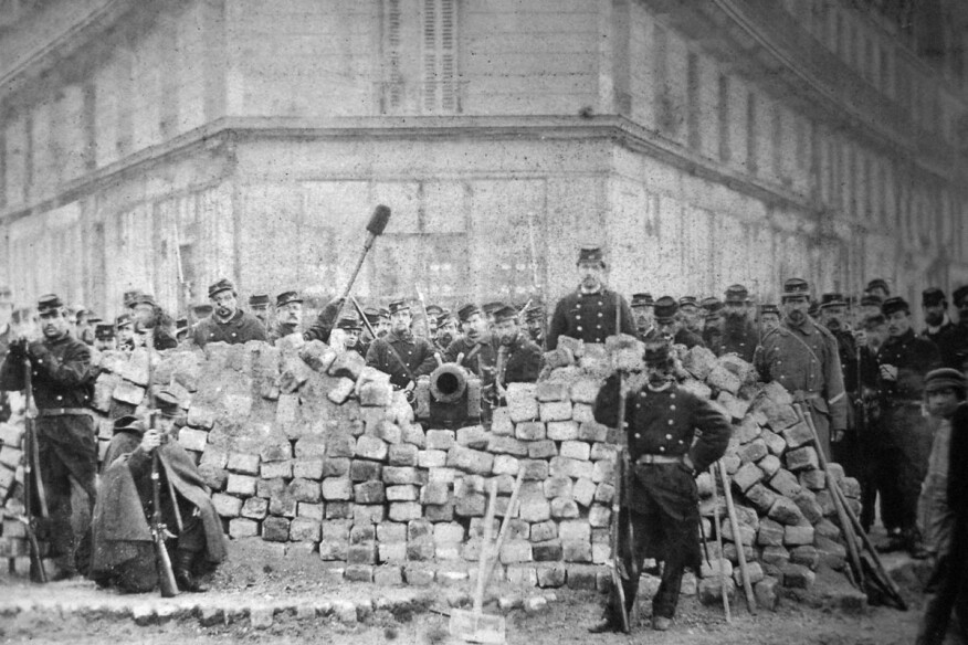 Barricade at Boulevard Voltaire and Boulevard Richard-Lenoir during the Paris Commune of 1871