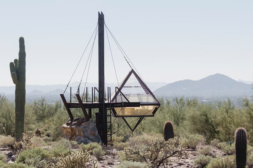 Many students still build and occupy their own desert shelters, a tradition dating back to the creation of Taliesin West.