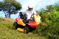 Ride-on brush cutter