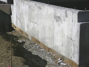 Carton void forms are designed to hold up the weight of fresh concrete long enough for the concrete to cure and support itself on piers or beams.