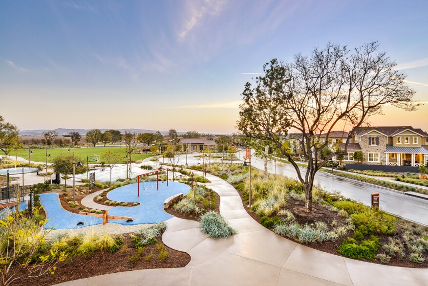 Bordering a 1,300-acre municipal park, FivePoint Communities' Great Park Neighborhoods are designed for easy bike access to neighborhood amenities, work, and shopping.