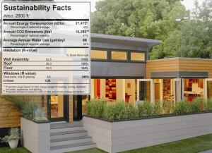CARBON CONTENT: Architect Michelle Kaufmann's sustainability label for green homes is the latest step to help home buyers discern the differences between an increasing stock of energy- and resource-efficient housing options.