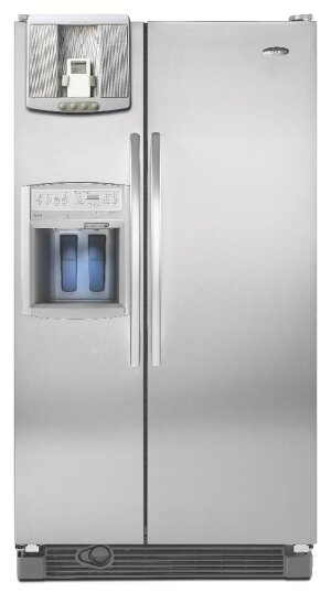 Manufacturer photoWhirlpool. The Centralpark Connection refrigerator features a plug-and-play port for docking consumer electronics, such as a digital photo frame.