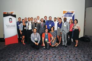 Students from Northern Illinois University attend the APWA Congress in chicago for the Futures Program.