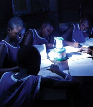 In Africa, where 560 million people live without electricity, solar and LED off-grid lighting solutions are providing a dynamic change for communities. People no longer have to rely on dangerous kerosene lamps. This is particularly beneficial for students, who have more time to study, and under better overall illumination conditions.