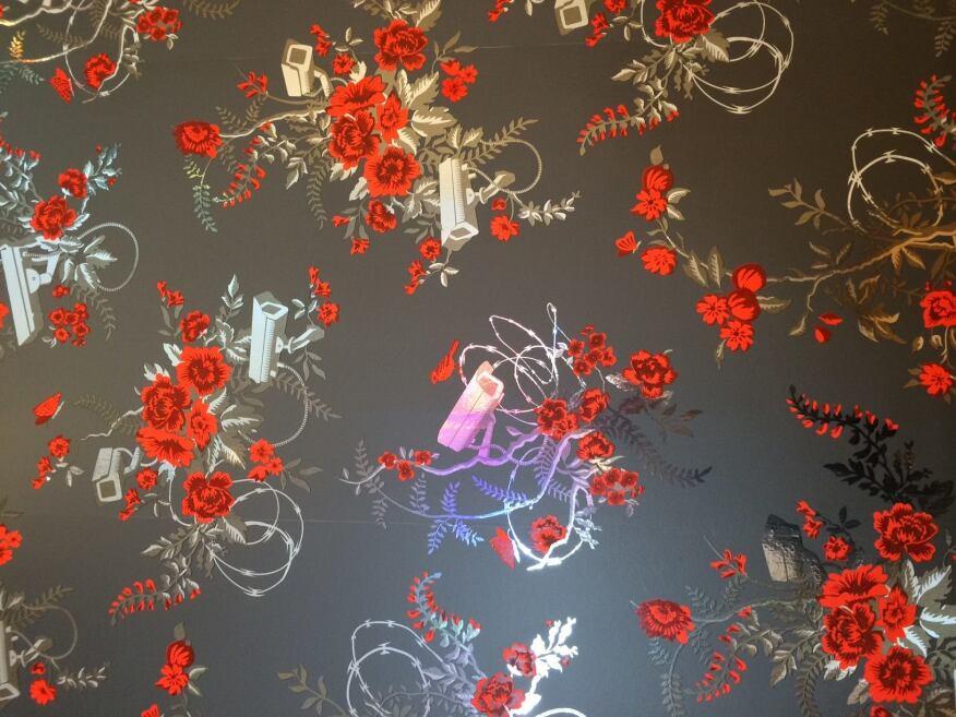 """Flavor Paper and Dan Funderburgh's """"Vigilant Floral"""" print"""