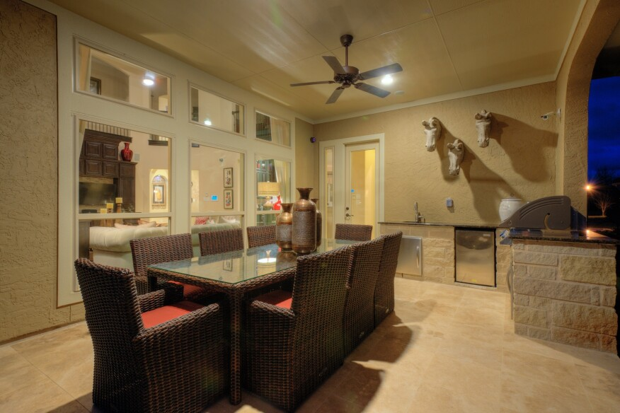 Taylor Morrison Positano model home featuring security cameras and smart switches and lights