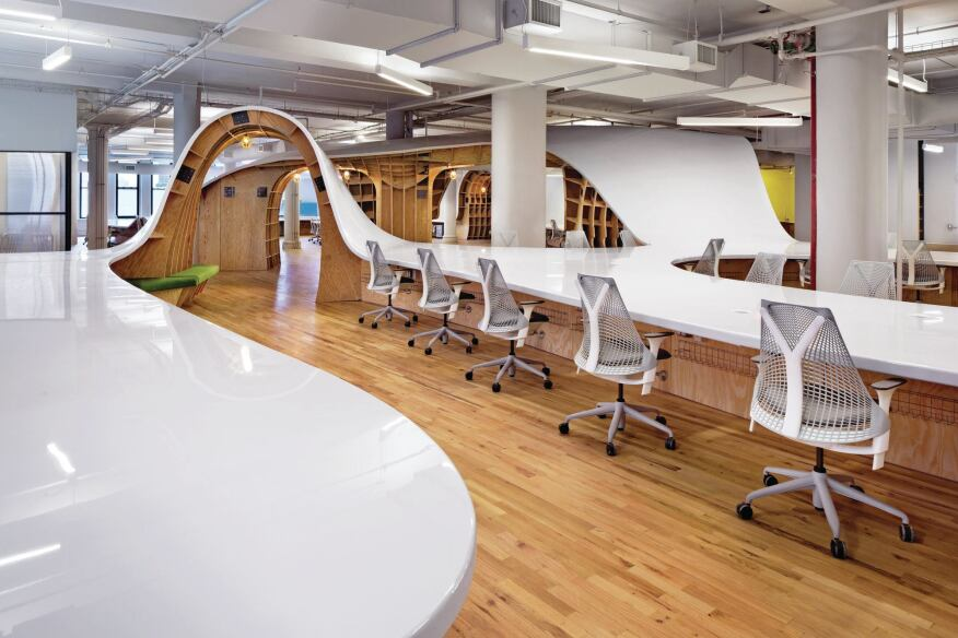 Innovative Detail: The Superdesk at the Barbarian Group Office : Architect Magazine : Office ...