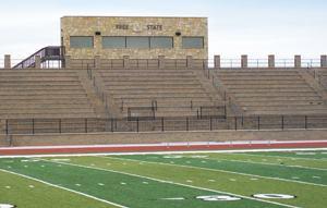 School officials chose masonry bleachers for the high school football stadium over tradtional aluminum.