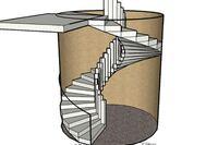 Forming a Circular Concrete Staircase