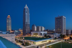 Cleveland Civic Core: Burnham Mall, Cleveland Convention Center & Global Center for Health Innovation