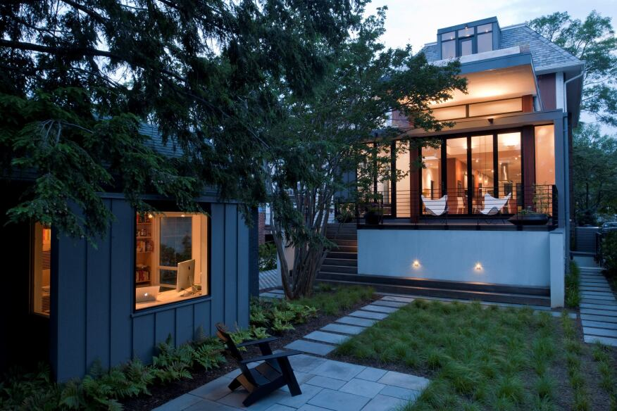 Cleveland Park House & Studio, Washington, D.C., by McInturff Architects