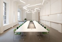 "New Sociable Workplace Concept Lit by a ""Halo"" of Light"