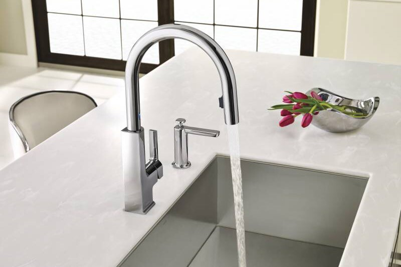 moen, sto kitchen faucet, motionsense kitchen faucet, hands-free kitchen faucet, motion-activated kitchen faucet