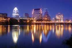 TEXAS TOWN: Austin attracts high-tech workers, college students, musicians, and celebrities.
