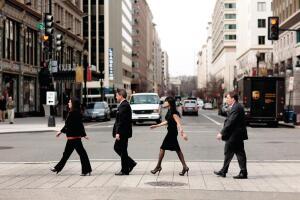 From left: Jennifer Workman, AIA; Adam W. Palmer, AIA; Deepika Padam, AIA; Bradley Benjamin, AIA