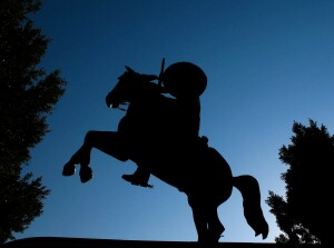 The Porter Ranch's long-missed cowboy statues have been found and prepared for new installation by Toll Brothers.
