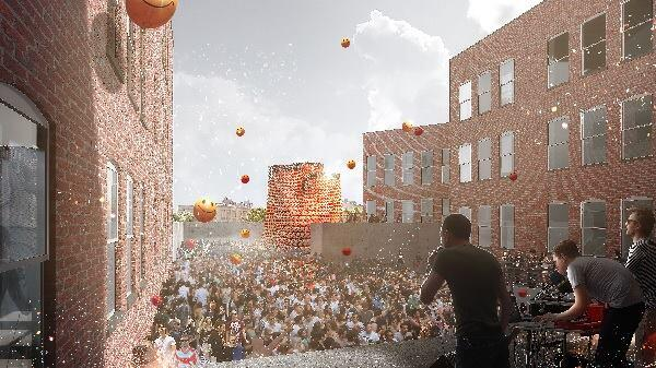 A rendering of The Living's Hy-Fi, the winning design of the 2014 Young Architects Program.